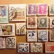 Sellos: BRASIL - LOTE DE 18 SELLOS - VARIOS TEMAS.. Lote 150511418
