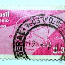 Sellos: SELLO POSTAL BRASIL 1960, 3,30 CRS,CONGRESO EUCARISTICO NACIONAL, CORREO AÉREO, USADO. Lote 150872978