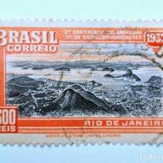 Sellos: SELLO POSTAL BRASIL 1937, 300 RS, 2ª CONFERENCIA SUDAMERICANA DE COMUNICACIONES,CONMEMORATIVO, USADO. Lote 150894618
