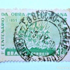 Sellos: SELLO POSTAL BRASIL 1959, 3,30 CR, CENTENARIO DE LA OBRA PRESBITERIANA EN BRASIL,CONMEMORATIVO,USADO. Lote 150901618