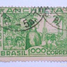 Sellos: SELLO POSTAL BRASIL 1934, 1,000 RS, 4TO. CENTENARIO NACIMIENTO DEL PADRE JOSE DE ANCHIETA, USADO. Lote 150924322