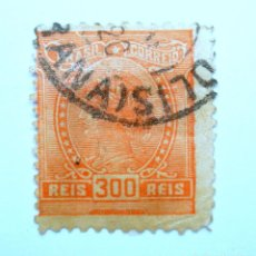 Sellos: SELLO POSTAL BRASIL 1918, 300 RS, ALEGORÍA DE LA REPÚBLICA E INSTRUCCIONES, USADO. Lote 150930506