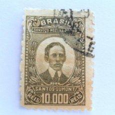 Sellos: SELLO POSTAL BRASIL 1929, 1,20 CR, ALBERTO SANTOS DUMONT (1873-1932), USADO. Lote 151043814