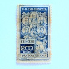 Sellos: SELLO POSTAL BRASIL 1909, 200 RS ,CONGRESO PANAMERICANO, USADO. Lote 151193546