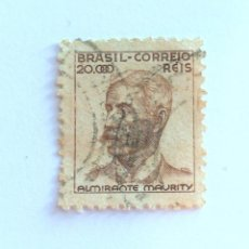 Sellos: SELLO POSTAL BRASIL 1941, 20.000 RS , ALMIRATE MAURITY , USADO. Lote 151207474