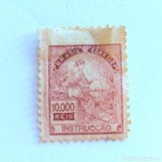 Sellos: SELLO POSTAL BRASIL 1928, 10,000 RS ,INSTRUCCION , SIN USAR. Lote 151219362