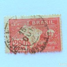 Sellos: SELLO POSTAL BRASIL 1927, 200 RS, CENTENARIO LEY UNIVERSITARIA , USADO. Lote 151234482