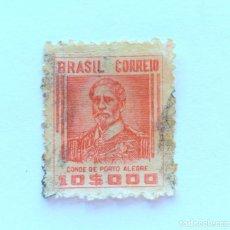 Sellos: SELLO POSTAL BRASIL 1941, 10,000 RS,CONDE DE PORTO ALEGRE , USADO. Lote 151234806