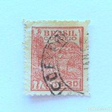 Sellos: SELLO POSTAL BRASIL 1946, 0,30 CR, AGRICULTURA , USADO. Lote 151235522