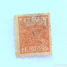 Sellos: SELLO POSTAL BRASIL 1946, 0,20 CR, AGRICULTURA , USADO. Lote 151235746