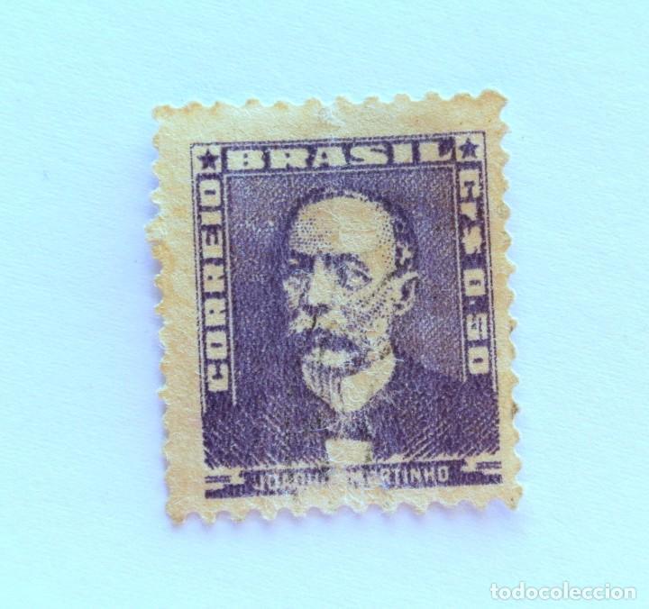 SELLO POSTAL BRASIL 1954, 0,50 CR, JOAQUIM MURTINHO, SIN USAR (Sellos - Extranjero - América - Brasil)