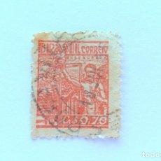 Sellos: SELLO POSTAL BRASIL 1955, 0,70 CR, SIDERURGIA, USADO. Lote 151244930