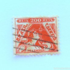 Sellos: SELLO POSTAL BRASIL 1933, 200 RS, FE Y ENERGIA , USADO. Lote 151246934