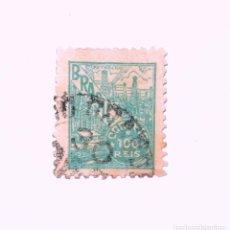 Sellos: SELLO POSTAL BRASIL 1941, 100 RS, PETROLEO, USADO. Lote 151401606