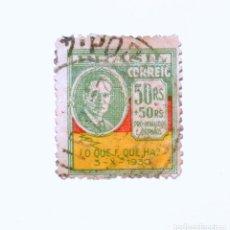 Sellos: SELLO POSTAL BRASIL 1931, 50 + 50 RS, OSVALDO ARHANA , HOMBRE DE ESTADO Y DIPLOMÁTICO, USADO. Lote 151403830