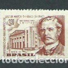 Sellos: BRASIL - CORREO 1960 YVERT 688 ** MNH PERSONAJE. Lote 153289476
