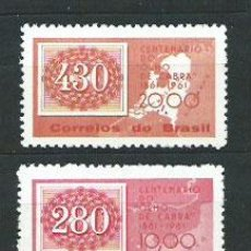 Sellos: BRASIL - CORREO 1961 YVERT 710/1 ** MNH. Lote 153289666