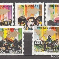 Sellos: BRASIL - CORREO 1974 YVERT 1101/5 ** MNH. Lote 153291812