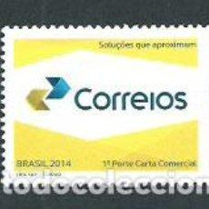 Sellos: BRASIL - CORREO 2014 YVERT 3327 ** MNH. Lote 153295258