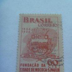 Sellos: SELLO DE BRASIL : CENTENARIO FUNDACION DE LA CIUDAD DE MOCOCA - SAU PAULO . 1856 - 1956.. Lote 154488566