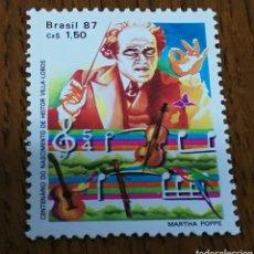 Sellos: BRASIL: 1828 MNH, MÚSICA, COMPOSITORES, AÑO 1986. Lote 154901925