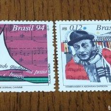 Sellos: BRASIL:2214/15 MNH, MÚSICA 1994. Lote 154905504