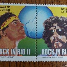 Sellos: BRASIL: ROCK IN RÍO 1991 MNH. Lote 154932045