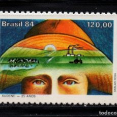 Sellos: BRASIL 1712** - AÑO 1984 - 25º ANIVERSARIO DE SUDENE. Lote 155801346