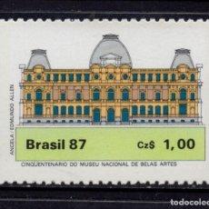 Sellos: BRASIL 1827** - AÑO 1987 - 50º ANIVERSARIO DEL MUSEO NACIONAL DE BELLAS ARTES. Lote 155801782