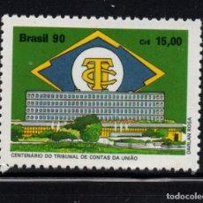 Sellos: BRASIL 1990** - AÑO 1990 - CENTENARIO DE LA CORTE DE CUENTAS DE LA UNION. Lote 155802426