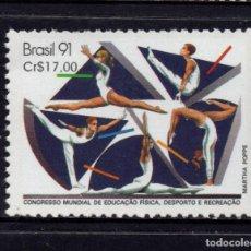 Sellos: BRASIL 2000** - AÑO 1991 - CONGRESO INTERNACIONAL DE EDUCACION FÍSICA Y DEPORTES. Lote 155802862