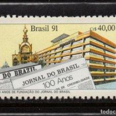 Sellos: BRASIL 2015** - AÑO 1991 - CENTENARIO DEL PERIODICO JORNAL DO BRASIL. Lote 155803002