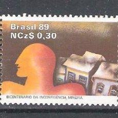 Sellos: BRASIL Nº 1911/1913** EN UNA TIRA. BICENTENARIO DE LA CONSPIRACIÓN MINERA DE 1789. SERIE COMPLETA. Lote 155827522