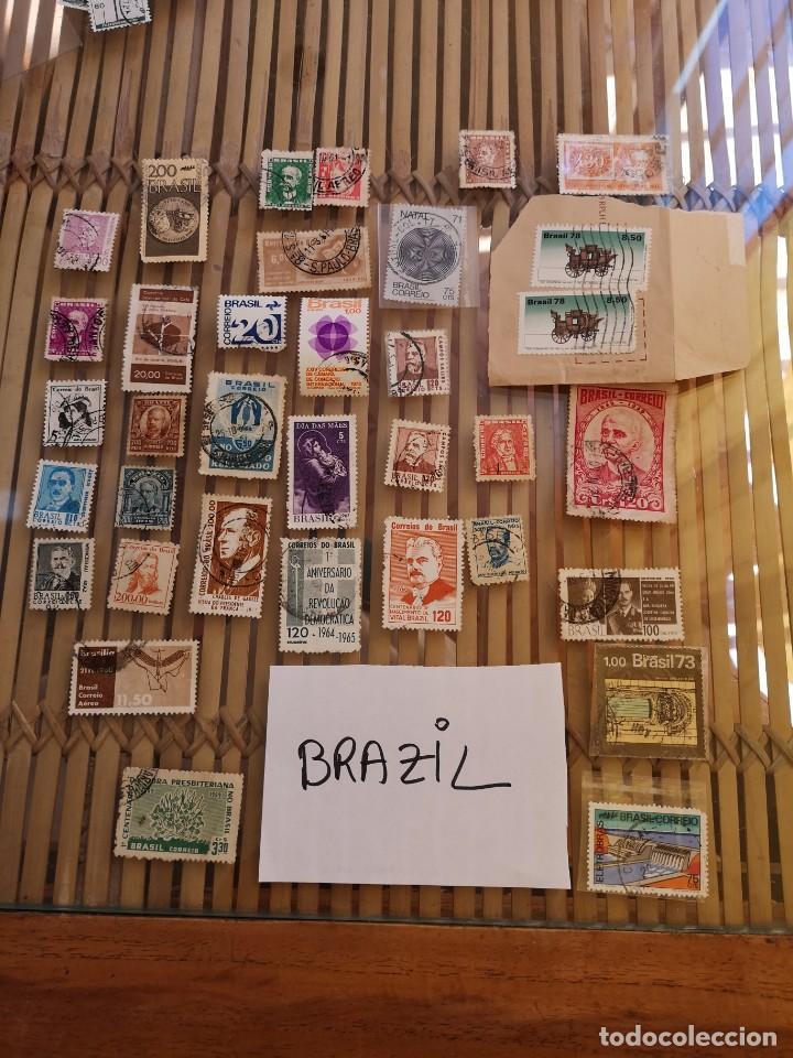 Sellos: LOTE DE SELLOS ANTIGUOS DE BRASIL ,NO SE DESCOMPLETA EL LOTE - Foto 2 - 158666854