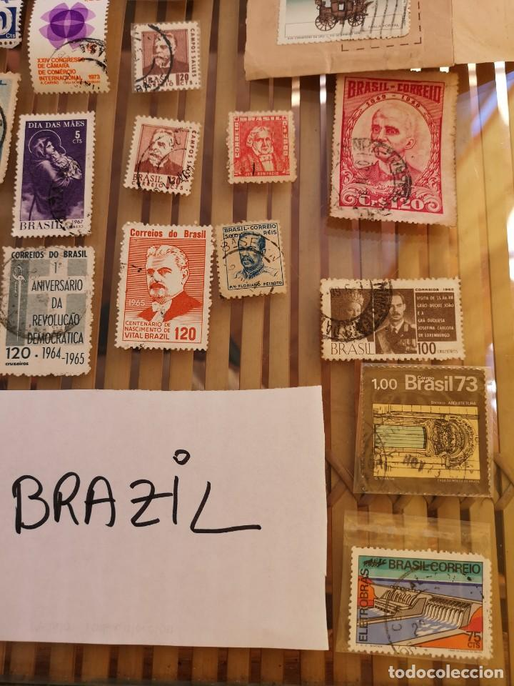 Sellos: LOTE DE SELLOS ANTIGUOS DE BRASIL ,NO SE DESCOMPLETA EL LOTE - Foto 4 - 158666854