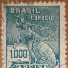 Sellos: SELLOS BRASIL 1000 REIS 1910-1920. Lote 160385024