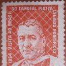 Sellos: SELLO BRASIL YVERT N°598 LEGADO PONTIFICIO 1954. Lote 160389566