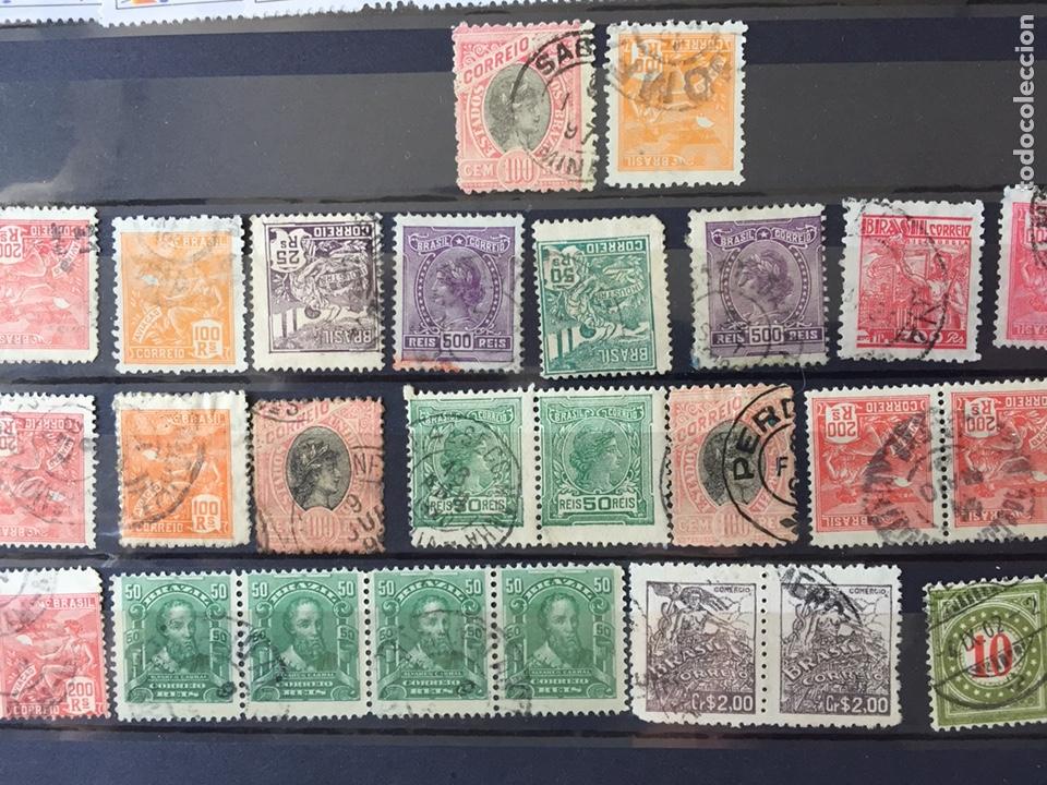 SELLOS CLÁSICOS BRASIL LOTE 200 SELLOS USADO (Sellos - Extranjero - América - Brasil)