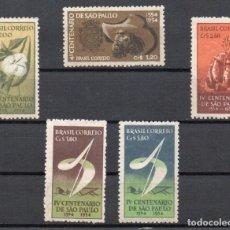 Sellos: BRASIL AÑO 1953 YV 523/27*** IV CENTENARIO DE SAO PAULO. Lote 167048540