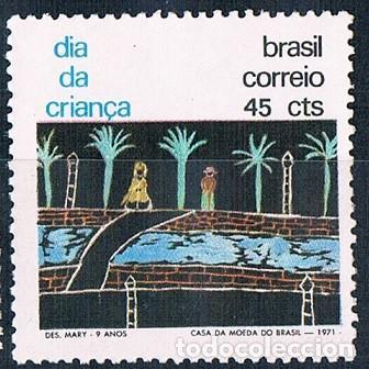BRASIL 1971 SELLO NUEVO YVES 967 MNH** (Sellos - Extranjero - América - Brasil)