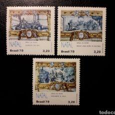 Sellos: BRASIL. YVERT 1401/3 SERIE COMPLETA NUEVA SIN CHARNELA. NAVIDAD. REYES MAGOS. Lote 191630118