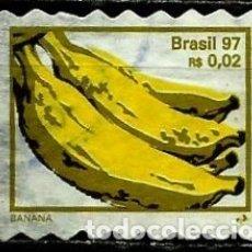 Sellos: BRASIL SCOTT: 2636I (FRUTAS: BANANA) (AUTOADHESIVO) USADO. Lote 179331410
