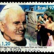 Sellos: BRASIL SCOTT: 2645 (II ENCUENTRO MUNDIAL DEL PAPA CON LAS FAMILIAS) USADO. Lote 179331608