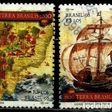 Sellos: BRASIL SCOTT: 2670/71 (500 ANIV. DEL DESCUBRIMIENTO DE BRASIL) USADO. Lote 179331948