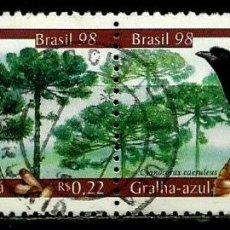 Sellos: BRASIL SCOTT: 2677/78 (UNIDOS) (PRESERVACION DE FLORA Y FAUNA) USADO. Lote 179332288