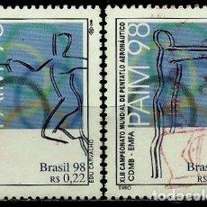 Sellos: BRASIL SCOTT: 2687A-D (JUEGOS DE LA FUERZA AÉREA SOBRE PENTATLÓN) USADO. Lote 179332406