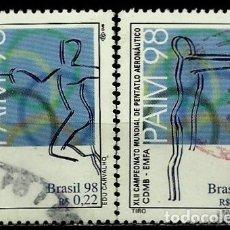 Sellos: BRASIL SCOTT: 2687A-D (JUEGOS DE LA FUERZA AÉREA SOBRE PENTATLÓN) USADO. Lote 179332431