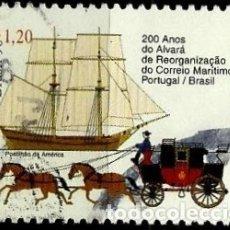 Sellos: BRASIL SCOTT: 2691 (200 AÑOS DEL CORREO MARITIMO PORTUGAL/BRASIL) USADO. Lote 179332537