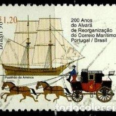 Sellos: BRASIL SCOTT: 2691 (200 AÑOS DEL CORREO MARITIMO PORTUGAL/BRASIL) USADO. Lote 179332553