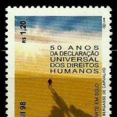 Sellos: BRASIL SCOTT: 2703 (DECLARACION UNIVERSAL DE LOS DERECHOS HUMANOS, 50º) USADO. Lote 179332895